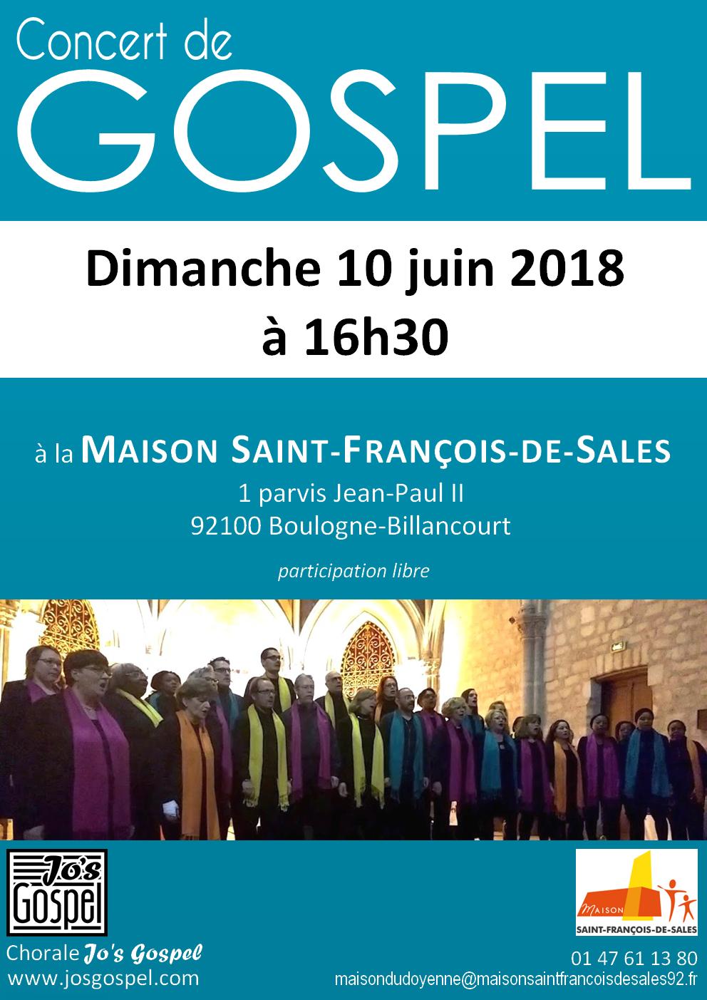 Jo's Gospel concert - Maison Saint-François-de-Sales