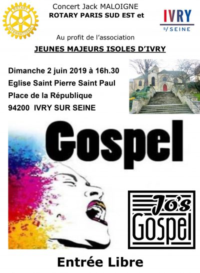 Jo's Gospel concert - Eglise Saint Pierre Saint Paul